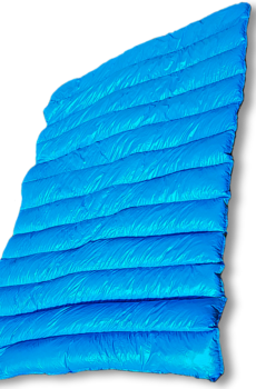 Arctic waves blue nylon puffy goose down blanket