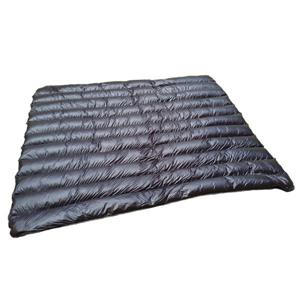 Arctic Waves goose down blanket black grey