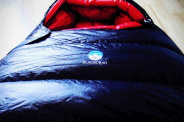 Black crag sleeping bags and down products
