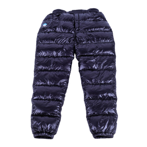 Black Crag goose down pants open front