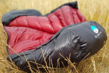 BlackCrag goose down sleeping bag field